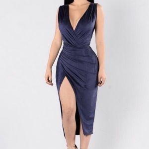 Fashion Nova Dresses - Suede blue dress fashion nova